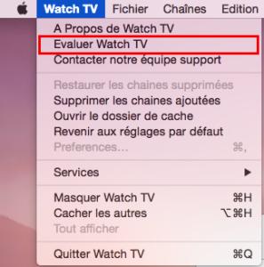 Evaluer Watch TV sur le Mac App Store